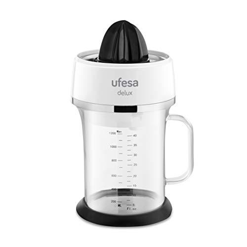 Ufesa EX4970 Delux - Exprimidor para zumo de cítricos. Depósito 1'2L y 2 Modos Vertido: Directo Jarra...