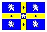 Novelties Direct Durham County bandiera 1,52 Meters x 0,91 Meters (100% poliestere) con occhielli per appendere
