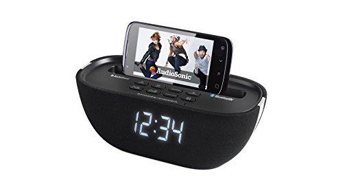 Audiosonic CL-1462 - Radio despertador (Bluetooth, USB) color negro