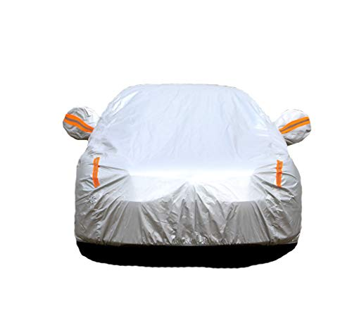 GAOY-CAR COVERS Autoplanen Kompatibel mit Autoabdeckung Kompatibel mit Mini Cooper S Spezielle Autoabdeckung Sonnenschutz Regen- und Schneeverdickung Four Seasons Universal (Color : Silver) (Car Cover Mini Cooper S)