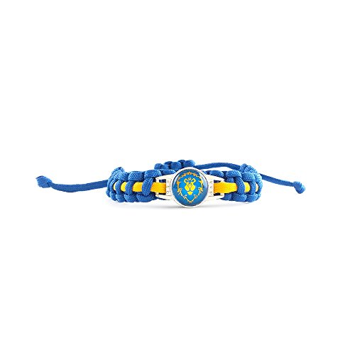 World of Warcraft - Bracelet - Faction : Alliance - Bracelet tressé (Fait main) - Homme Femme - Bleu et Jaune - Taille ajustable