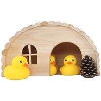 Willlly Igelhaus Holz Winterfest avec Sol Hérisson Hut d'hiver pour Jardin Totoro Hérisson Maison d'extérieur Isotherme Sol, Chalet, 42x25x16.7
