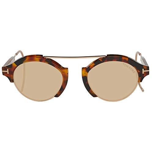 Tom Ford Unisex-Erwachsene FT0631 55E 49 Sonnenbrille, Braun,