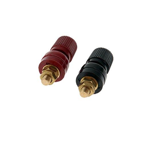 Sharplace 2pcs 200A Klemme Polklemme Binding Post M6/M8 Kupfer Schraubengewinde Elektrische Isolierung - M6