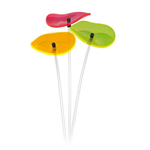 Cazador del Sol ® | Lucille | 3 Stück geschwungene Sonnenfänger bunt, 40 cm hoch
