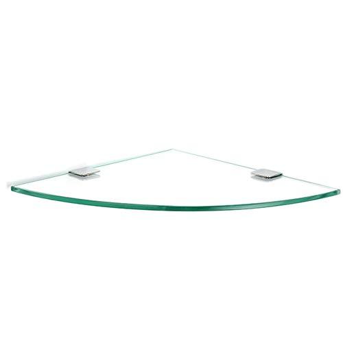 KKCF Dusche Rack Eckablage Wandhalterung Dreieck Lager Verdicken Wasserdicht Glas, 4 Größen (Farbe : One Floor, größe : 24cm)