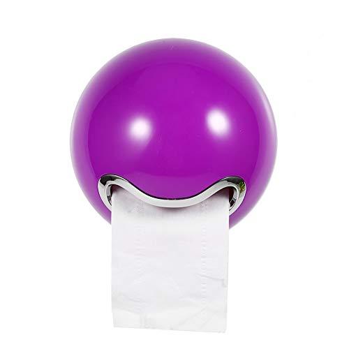 1 stück Nette Ball Shaped ABS Badezimmer Wand Toilettenpapierrollenhalter Tissue Rack (Lila)