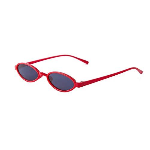iCerber UV400 Damenmode Unisex Oval Shades Sunglasses Integrierte UV-Brille Klein Oval Sonnenbrillen Retro Vintage Brillen Herren Damen