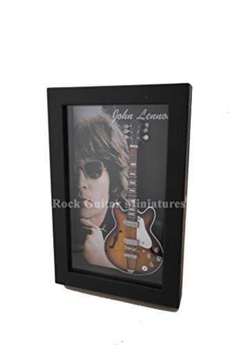 Unbekannt RGM8893 John Lennon The Beatles Miniature Guitar Collection in Shadowbox Frame