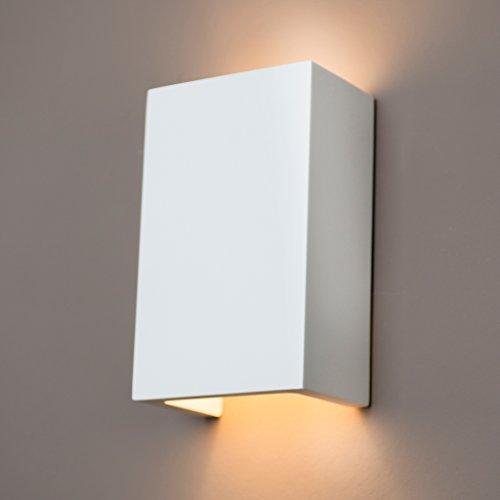 Gipswandleuchte von Activled Gipsleuchte AL-GL8429 im modernen Design in Wandfarbe überstreichbar G9 bis 40W 230V 50Hz Ideale Wandleuchte aus Gips für Wohnzimmer Flur und Diele - Akzent Wandleuchte