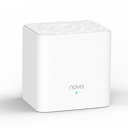 Tenda Nova MW3-1 Système Wi-Fi Mesh pour Toute la Maison: Dispositif Ajouté pour L'extension du Réseau du Nova MW3, Couverture Wi-Fi de 100 m², 2 Ports Ethernet, APP Contrôle, Réseau d'invité, Contrôle Parental, Installation Facile, Préconfiguration (Pack de 1)
