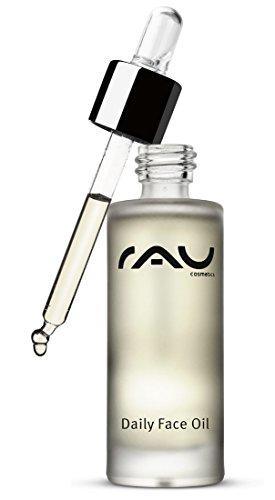 RAU Daily Face Oil (30 ml) - Gesichtsöl mit wertvollen Pflanzen-Ölen und Vitamin E/pflegt die Haut geschmeidig zart/für alle Hauttypen