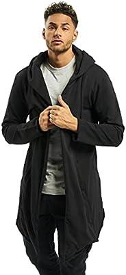 Urban Classics mens Long Hooded Open Edge Cardigan Long Frayed Sleeve Sweatshirt with Hoodie, Open Front Cardi