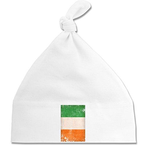 Städte & Länder Baby - Irland Flagge Vintage - Unisize - Weiß - BZ15 - Baby Mütze...