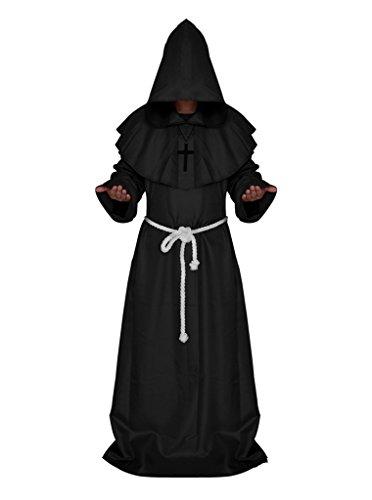 Smile YKK Halloween Cosplay Kostüm Geistlichen Rock Bekleidung Einheitgröße M (Kostüm Zombie Kontakte)