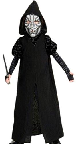 erdbeerloft - Jungen Karnevalskomplettkostüm Harry Potter Death Eater Deluxe, 146, Schwarz