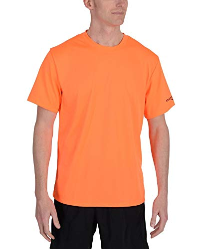 Herren Kurzarm Rennen Tag Tee Promo Shirt Orange L - Rennen-tag-tee