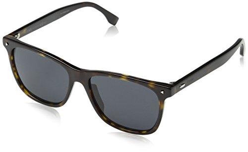 Fendi Herren FF M0002/S IR 086 55 Sonnenbrille, Braun (Dark Havana Grey)