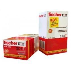 fischer-140101-tacos-fischer-sx-8-con-tornillo-caja-50