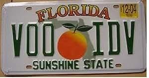 Plaque immatriculation américaine Florida