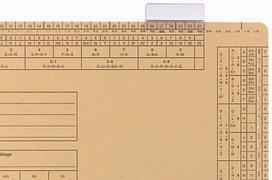 ELBA 100552031 Sichtreiter für Einstellmappen 50er Pack mit Beschriftungsschild, 3-zeilig beschriftbar farblos
