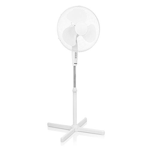 Tristar VE-5893 Ventilator Standventilator-Durchmesser 40 cm-Höhenverstellbar: 105-125 cm, 45 W, Weiß, 105-125 cm/Ø 40 cm