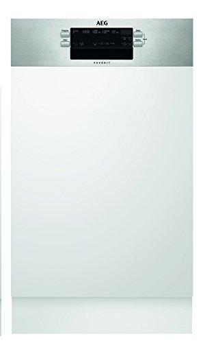 AEG FEB51400ZM Geschirrspüler (teilintegriert) mit Softspikes/45 cm Spülmaschine mit Timer und AirDry/Einbaugeschirrspüler inkl....