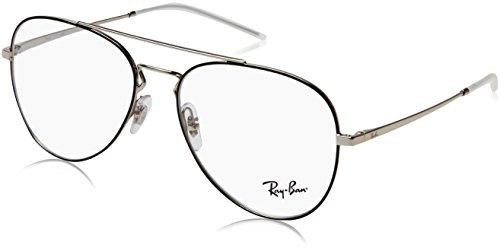 Ray-Ban Unisex-Erwachsene 0RX6413 Brillengestelle, Schwarz (Silver Top Black), 54