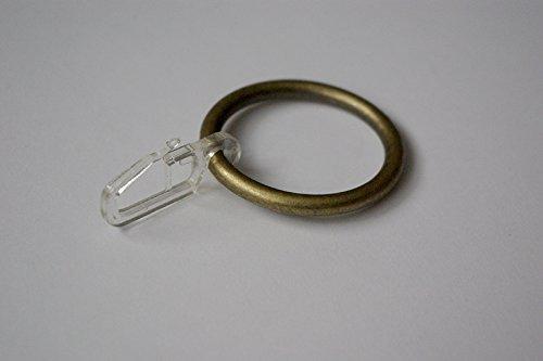 Vorhang Ring Haken für Voile Drapes Bronze/Antik Gold Ø35mm (10Stück) Antike Größe 10 Ringe