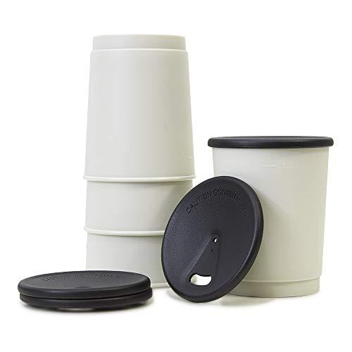 achilles Barista 365 Coffee-to-Go-Becher 4er Set 330ml Mehrweg-Becher mit Deckel umweltfreundlicher...