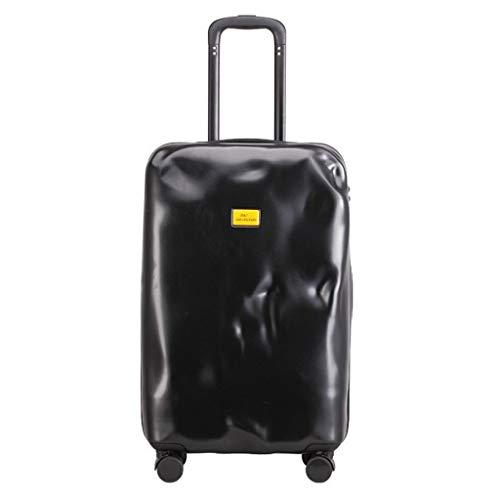 Koffer handgepäck Koffer kaputt Trolley Koffer personalisiert Koffer Gepäck Silber 20 Zoll samsonite Koffer (Color : Black, Size : 28 inches/71x29x46CM)