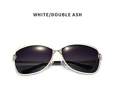 Sport-Art-Sonnenbrille-Fahrer-Gläser mit faltbarem Feld Shatterproof Anti-Kratzer für Mans u. Frauen-einen.Kreislauf, der das Fischen fährt, das Golf wandert ( Color : White )