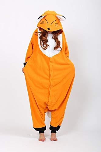 Zygeo - Halloween Pyjamas Shorts Orange Fuchs Cosplay Kostüm Unisex Karikatur erwachsenes Tier Sport-Pyjamas [L] (Orange Shorts Kostüm)