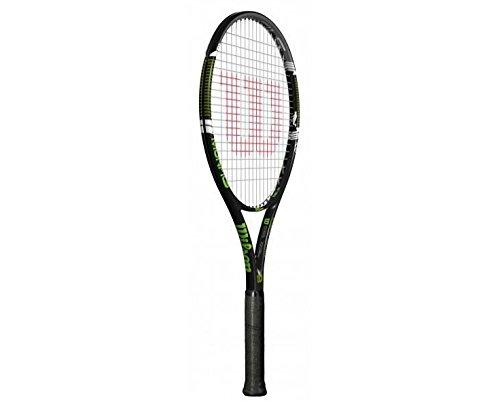 Wilson Monfils 100 W/O Cvr Rkt 3 Racchetta da Tennis, Nero/Verde, 3