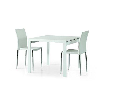 Fashion commerce fc662 tavolo, legno nobilitato, bianco, 90x90x76 cm