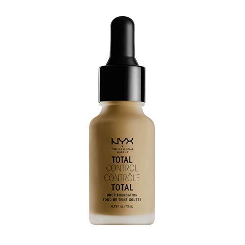 NYX Professional Makeup Total Control Drop Foundation, Präzise Dosierung, Aufbaubare Deckkraft, Langanhaltend, Vegane Formel, Mattes Finish, Farbton: Mahogany -