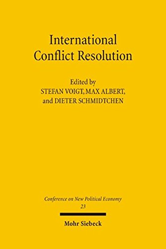 Conferences on New Political Economy: Vol. 23: International Conflict Resolution