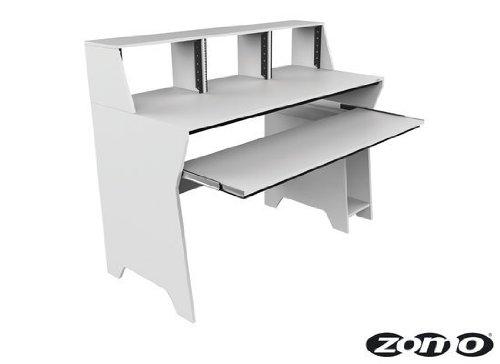 Zomo 0030102901 Milano Studio Tisch weiß (Studio Rack Holz)