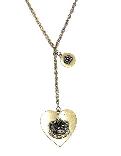 British Royalty Motto Dieu et Mon Droit y-chain Herz Halskette Krone 71,1cm