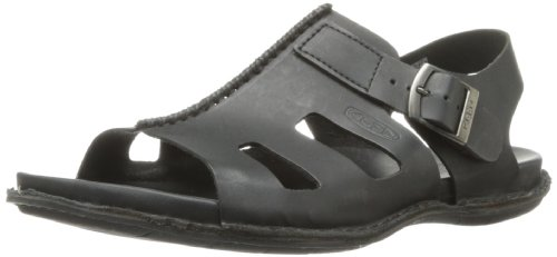 Keen Alman Sandal Herren Freizeit Leder Riemen Sandale Sommer Schuhe Schwarz