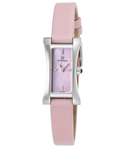 Eterna 2610–41–81–1124 Femme Sahida Sangle en satin Rose et rose Nacre Cadran Swiss montre à quartz
