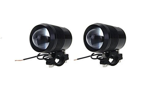 Generic (unbranded) Spot Beam LED Fog Lamps for Bullet 350 (Black, Set of 2)