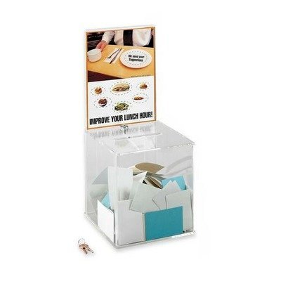 Acrylic Collection Box, 9 1/4 x 9 1/4 x 21, Clear, Sold as 1 Each