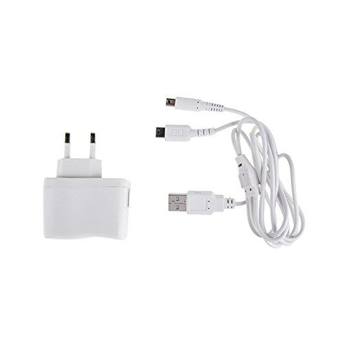 Chargeur secteur pour DSi XL/DSi/DS Lite/3DS XL/3DS Blanc