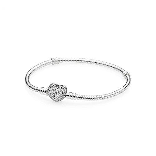 Pandora bracciale con charm donna argento - 590727cz-21