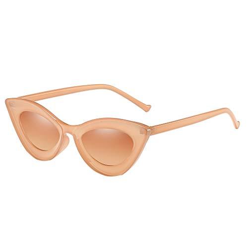 Lazzboy Mann Frauen Cat Eye Sonnenbrille Brille Shades Vintage Retro Style Brillenfassungen Damen Kunststoff Brillen, Sonnenbrillen & Zubehör Amerika Punk Wild Persönlichkeit(Khaki)