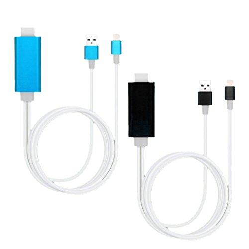 Set Of 2PCS HDMI Cable. Cord Connector COMPATIBLE FOR IPhone 5/5s/5c/SE/6/6 Plus/6s/6s Plus/7/7Plus