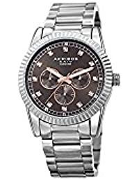 Akribos XXIV Men's Swiss Quartz Stainless Steel Casual Watch Color:Silver-Toned (Model: AK958SSGY)