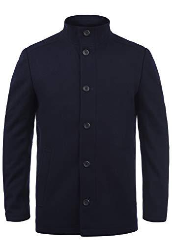 JACK & JONES Premium Jacinto Herren Winter Mantel Wollmantel Lange Winterjacke mit Stehkragen, Größe:XXL, Farbe:Navy Blazer
