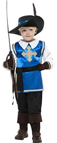 Fancy Me 4 Stück Jungen Musketier Musketier Lehrplan büchertag Kostüm Kleid Outfit 4-12 Jahre - Blau, 7-9 Years, Blau (Lehrplan Kostüm)
